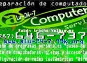 Técnico computadora, reparación  y desarrollador de programas personales