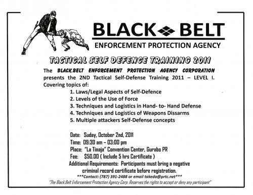 Adiestramiento defensa personal tactica nivel i