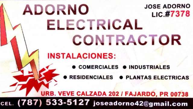 Adorno electrical contractor
