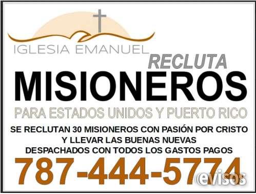 Misioneros para puerto rico y estados unidos