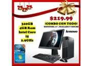 Lenovo m92p 320gb-4gb i5 combo con todo!!