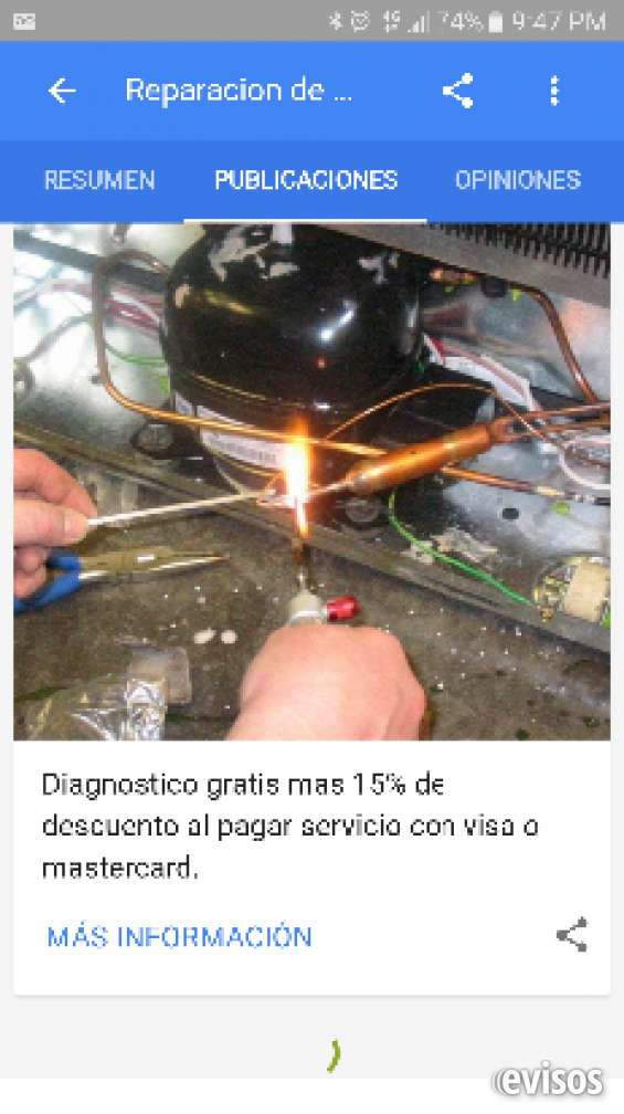 Asistente tecnico en servicio de reparación